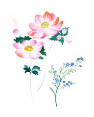 Big Set watercolor elements