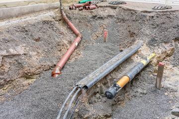 Erneuerung der Gasleitung in einer Strasse