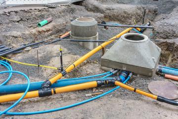 Erneuerung der Gasleitung und Wasserleitung in einer Strasse