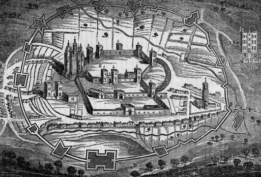 Pontefract Castle, Yorkshire