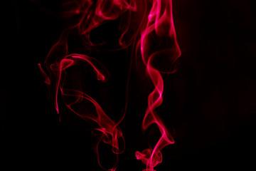 Red Smoke on Black background.