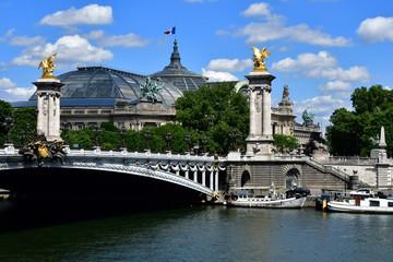 Paris; France - april 2 2017 : the Alexandre 3 bridge Fototapete