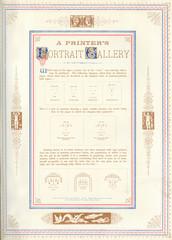 A Printers PortrAit GAllery, 1885