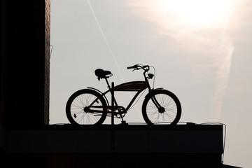 Fahrrad mit Silhouette