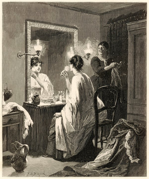 A Young WomAn At Her Dressing TAble
