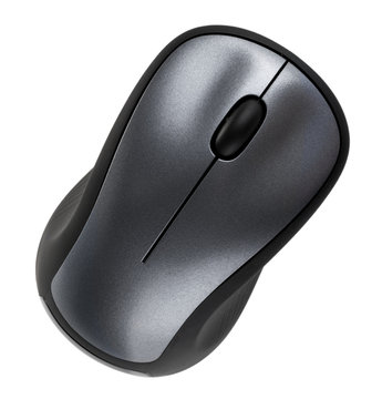 computer mouse top view clipping path