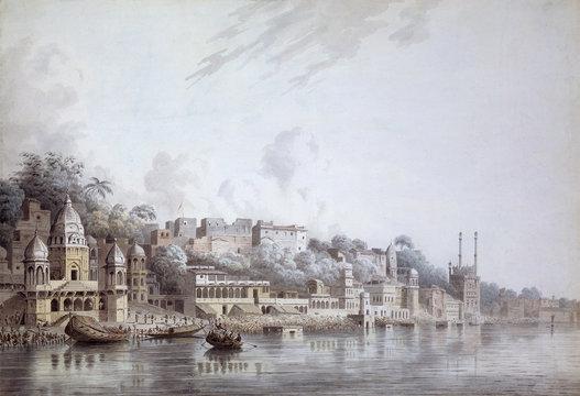 Benares on the Ganges, by Hubert Cornish