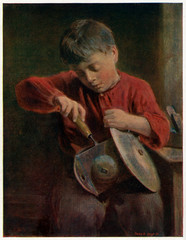 Boy Repairing a ClockSomething Wrong with the Works
