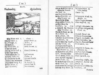 Orbis Pictus, Farming