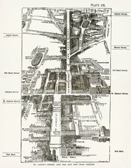 Map of the StJamess Bond Street Areas of London
