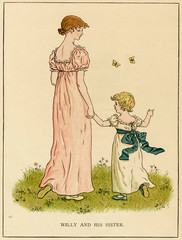 Illustration, Willy and His Sister