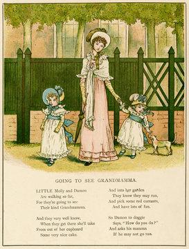 Illustration, Going to See Grandmamma