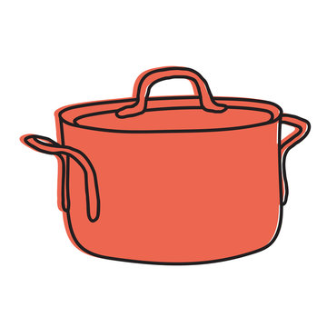 cooking pot hand drawn illustration