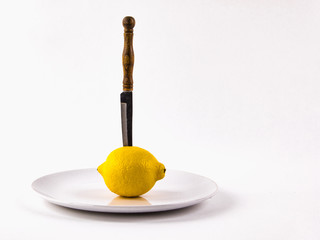 Fresh lemon, citrus fruits, as an important product in the range. The concept of healthy eating.