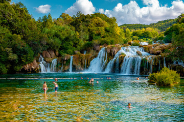 KRKA Waterfalls, krka national park Croatia Fototapete