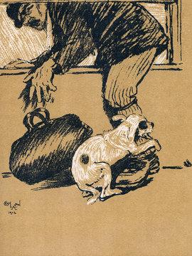 Illustration by Cecil Aldin, a Dog Day