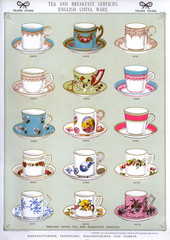 Tea and Breakfast Services, English China Ware, Plate 30