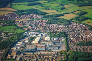 Aerial shot of the rural english landscape Fototapete