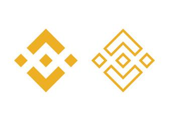 yellow binance currency symbols