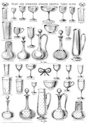 Plain and Engraved English Crystal Table Glass, Plate 94