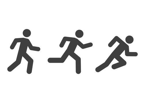 running man icons various style