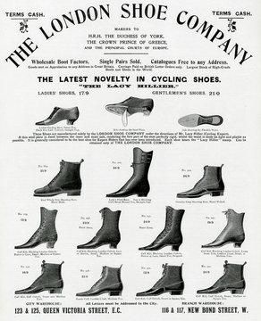 Advertisement for London Shoe CompAny 1898