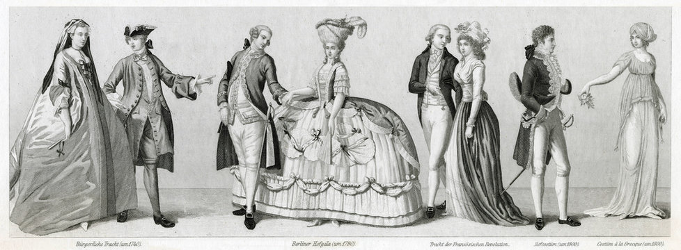 Costume Styles, 18th Century