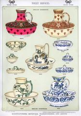 Toilet Services, English Stoneware, Plate 55