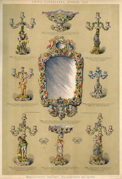 China Candelabra, Mirror and Centrepieces, Plate 65