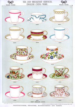 Tea and Breakfast Services, English China Ware, Plate 29