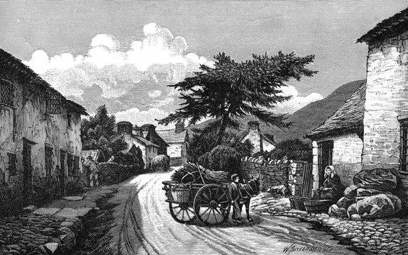 Llanwddyn in the Vyrnwy Valley, Wales