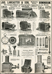 Advertisement for LAncAster Sons Bellows CAmerAs 1890