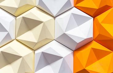 Decorative 3D panel in a modern interior. 3D geometric background.