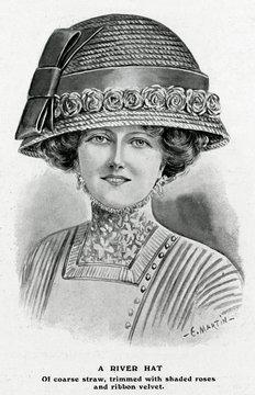 Woman Wearing River Hat