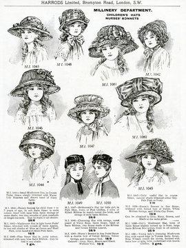 Trade Catalogue of Girls Hats 1911