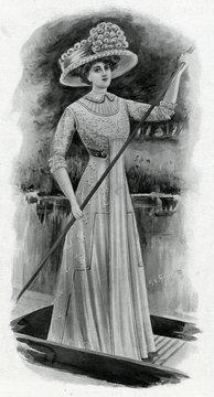 Dainty Frock for Regattas 1909