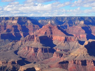 view of grand canyon at sunset