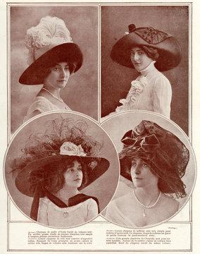 Selection of Edwardian Hats 1910