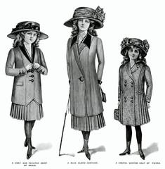 School Costumes for Girls 1909