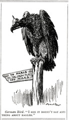 Ww1 Cartoon As the Eagle Flies