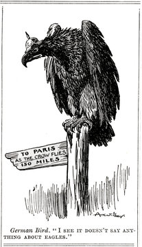 Ww1 Cartoon As the Eagle Flies