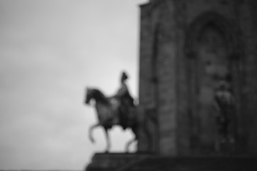 Abstract horse rider king monument