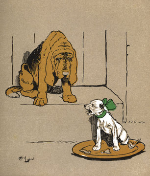 Illustration by Cecil Aldin, Puppy Tails