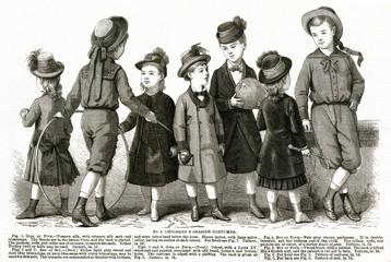 Children Seaside Costumes 1879