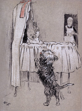 Illustration by Cecil Aldin, the Snob