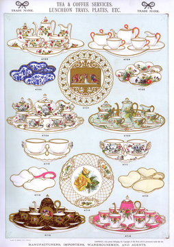 Tea and Coffee Services, Luncheon Trays, Plate 34
