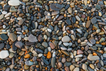 Abstract background with stones. Pebbles, coast. Abstract background with stones.
