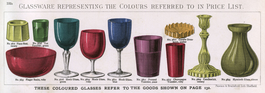 Colour Slip of Glassware with Plate 132