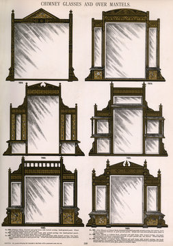 Chimney Glasses and Over Mantels, Plate 198