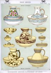 Toilet Services, English Stoneware, Plate 49